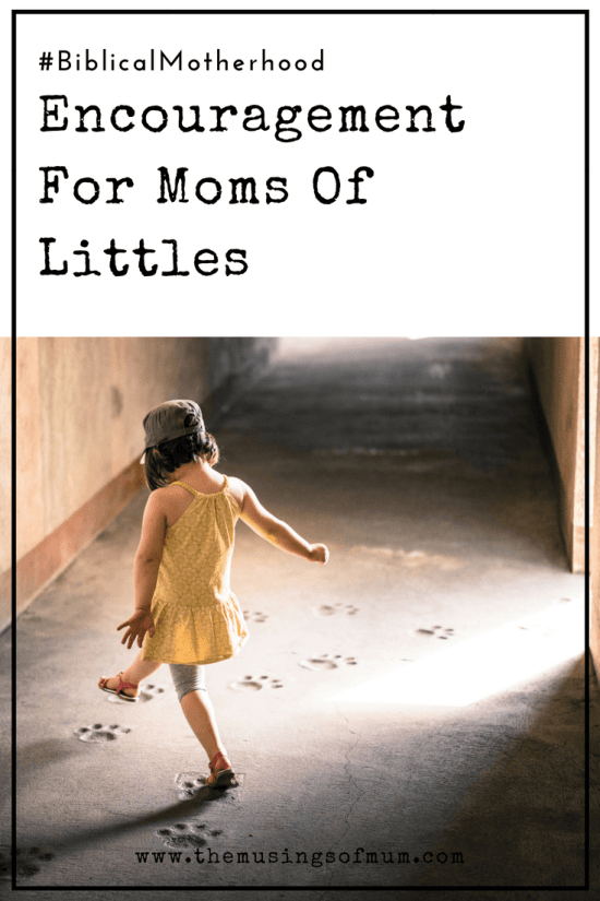 Encouragement For Moms Of Littles - Being a mom of little ones is not for the faint of heart, but be encouraged. Know you are not alone, the Creator of the universe is along side of you.