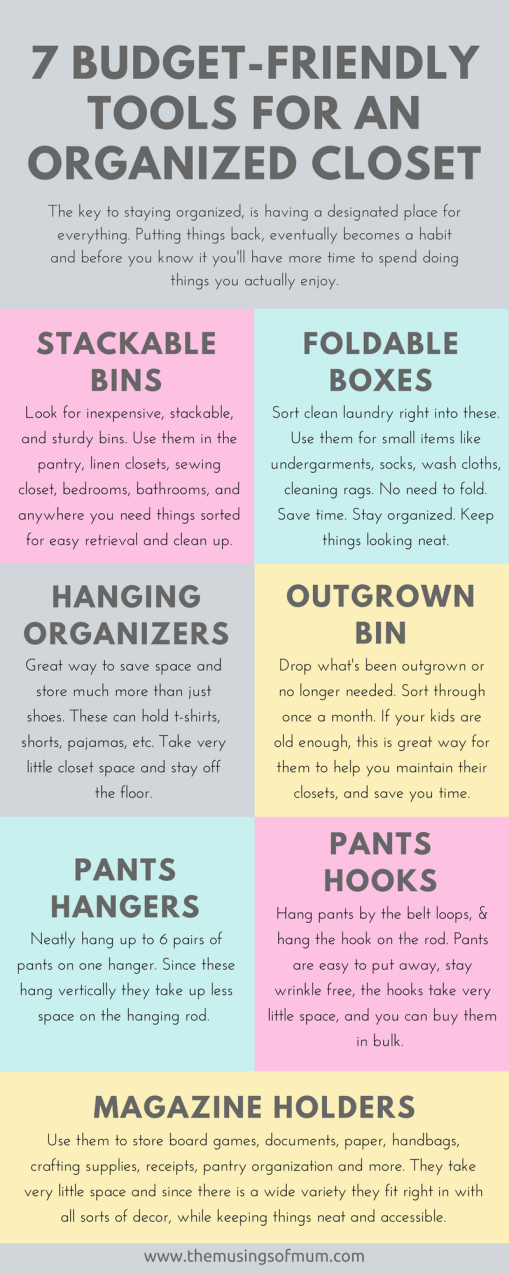 7 Budget-Friendly Tools for an Organized Closet