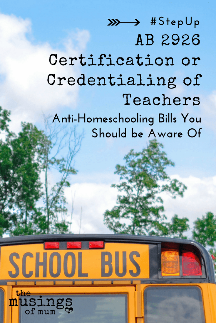 AB 2926 Certification or Credentialing of Teachers