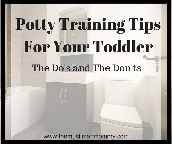 Potty training tips for your toddler, the do's and the don'ts
