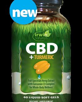 Irwin Naturals CBD + Turmeric 60ct