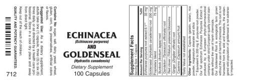 Echinacea Goldenseal 100ct 1