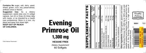 Evening Primrose Oil 1300mg 60ct 1