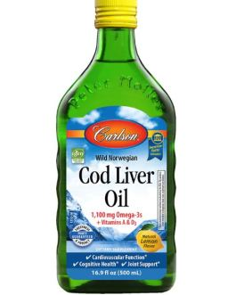 Carlson's Cod Liver Oil (Lemon)