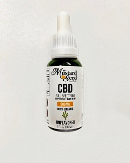 Mustard Seed Full Spectrum CBD Oil (Unflavored, 500mg)