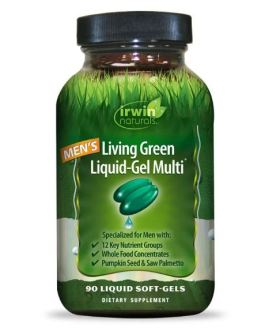 Irwin Naturals Living Green Liquid-Gel Multi for Men