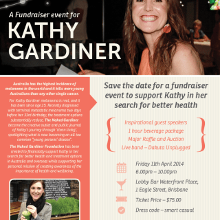 Save the Date: A Fundraising Event for Kathy Gardiner (…but that's me!)