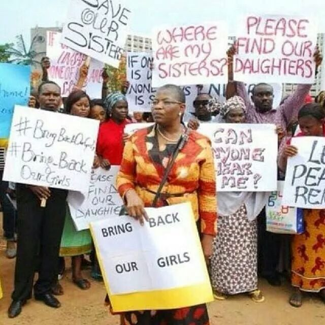 image  Protesters urge Nigeria to step up hunt for girls abducted by Islamists wpid wp 1398950663502