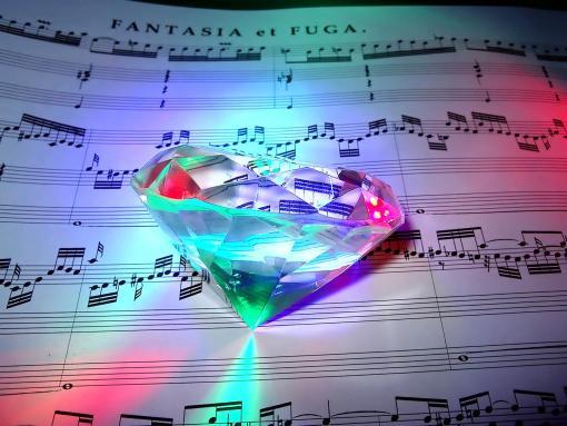 diamond Diamonds In The Feed Diamond on music sheet 510x383