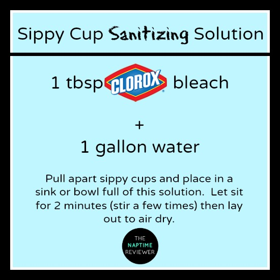 How to sanitize a sippy cup.