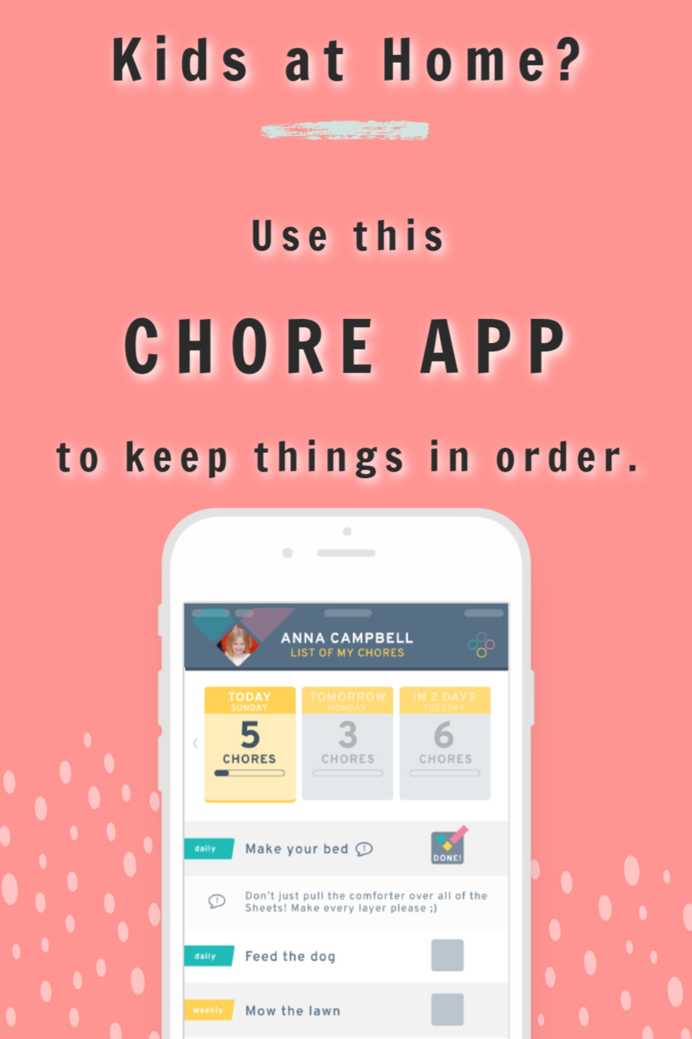 Chore Check App for Families