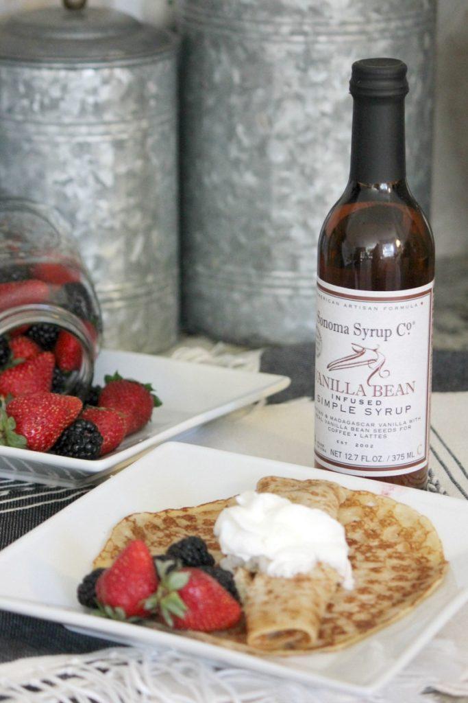 Vanilla Bean Berry Crepes Recipe