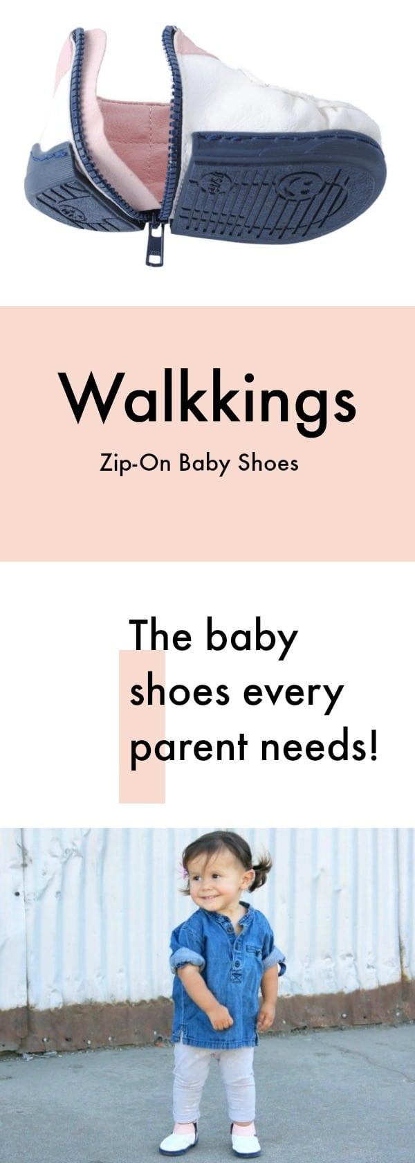 Walkkings Zip-On Baby Shoes
