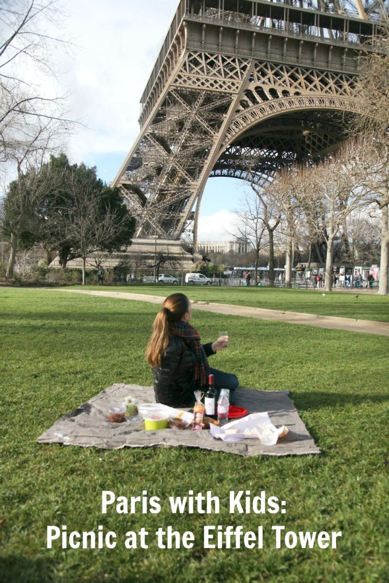picnic in paris with Eiffel tower