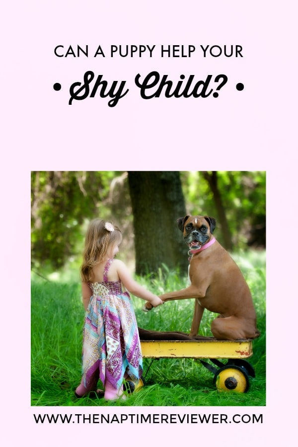can a puppy help a shy child?