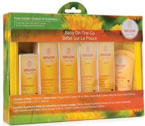 calendula baby products from Weleda