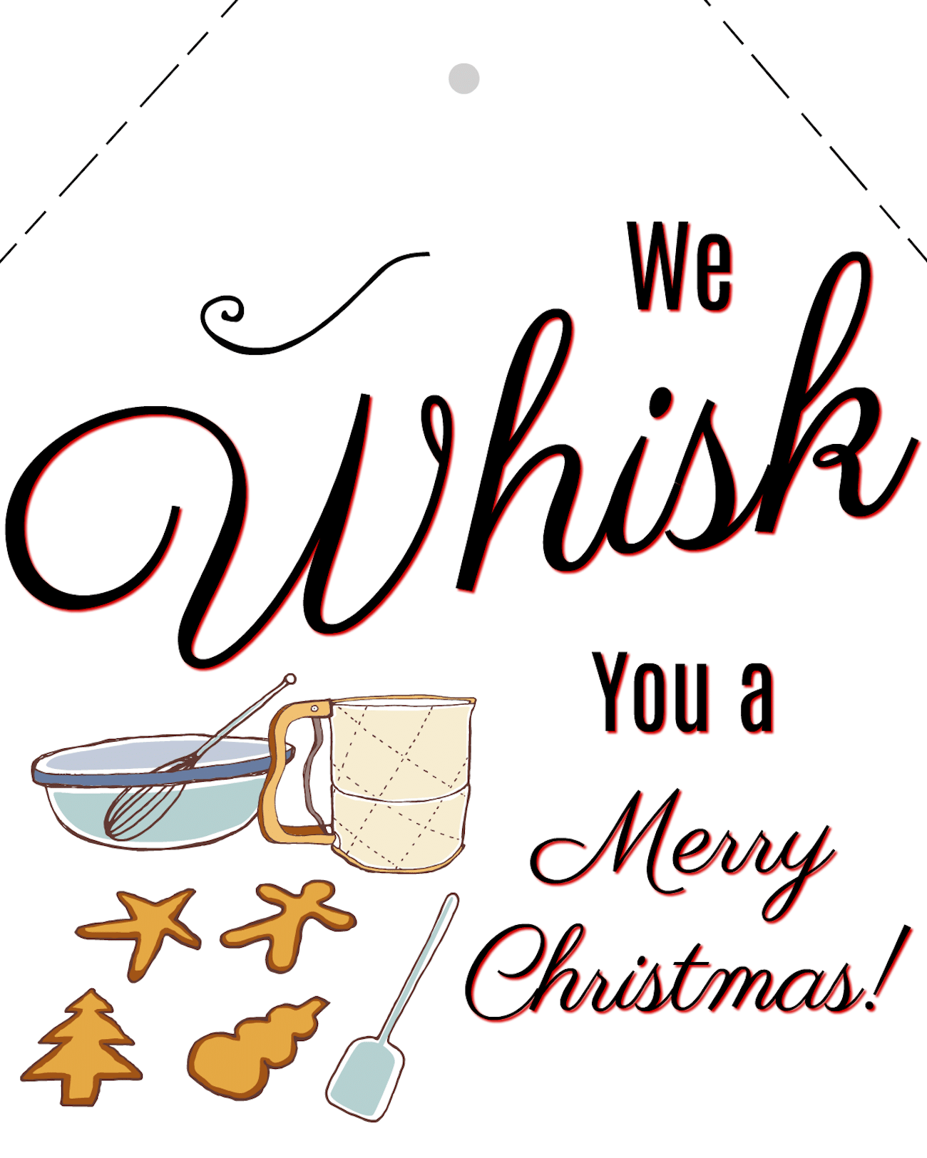 image about We Whisk You a Merry Kissmas Printable Tag known as whisk-oneself-a-merry-xmas The Naptime Reviewer