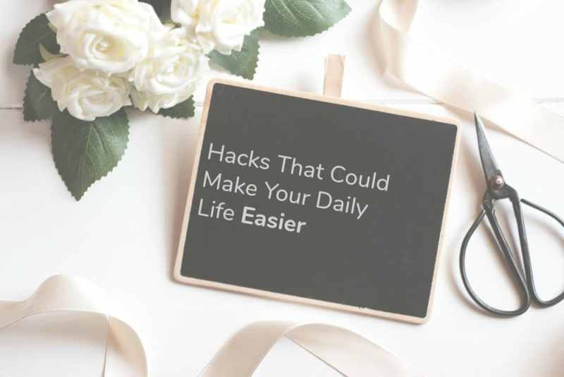 Daily Hacks chalkboard