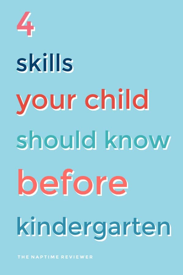 4 skill your child should know before kindergarten