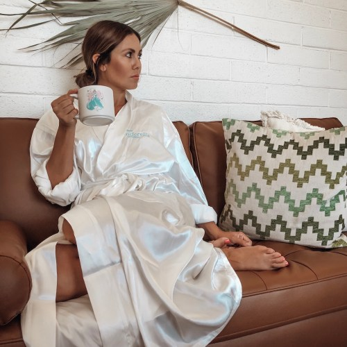 Cinderella Robe - Cinderella Gifts - Cinderella Mug - Mid-Century Mod Decor - Dried Palm Leaf on Wall