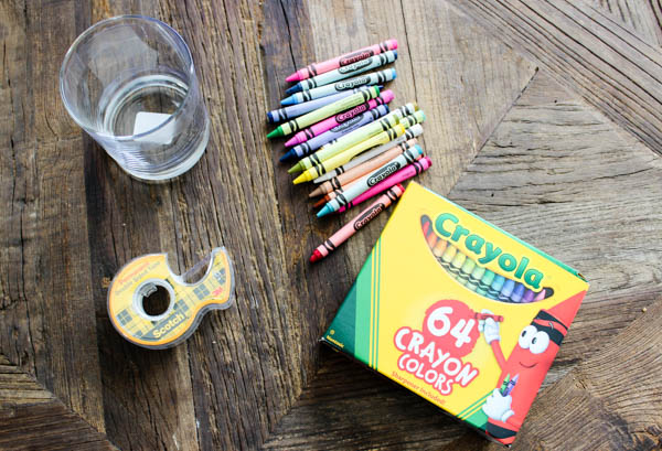 Super Easy Crayon Vase Craft for Back to School