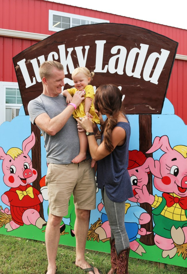 family at Lucky Lad Farm