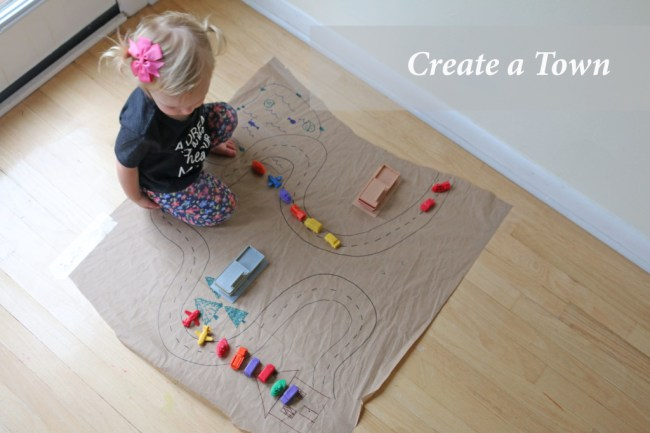 10 indoor play ideas: create a town with toy cars
