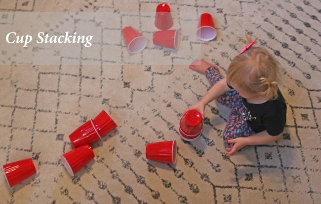 10 indoor play ideas: stacking solo red bups