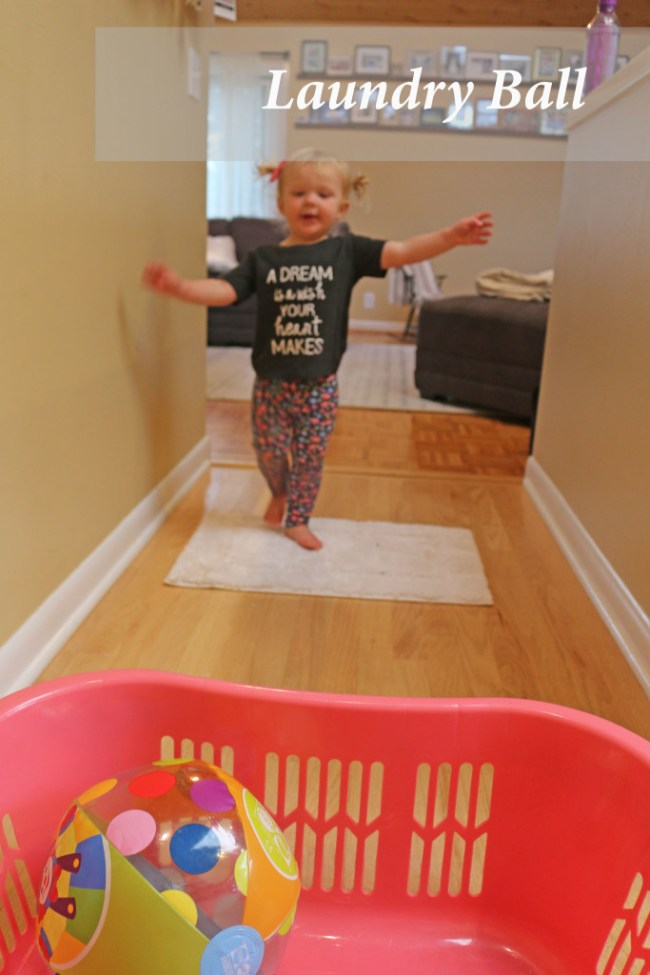 10 indoor play ideas: laundry basketball