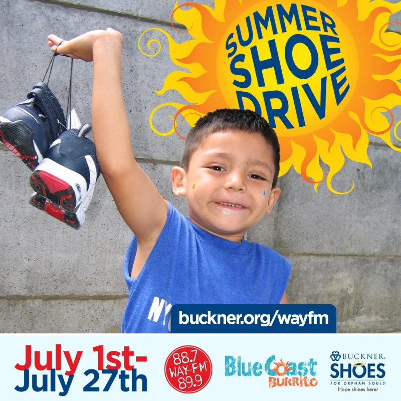 WAY-FM's Annual Shoe Drive