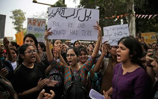 ABVP protests india saibaba