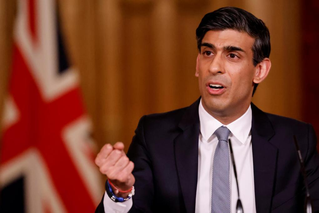The National: LONDON, ENGLAND - MARCH 03: Chancellor Rishi Sunak holds press conference on 2021 Budget on March 3, 2021 in London, England. The Chancellor, Rishi Sunak, presented his second budget to the House of Commons. He has pledged to protect jobs and livelihoods