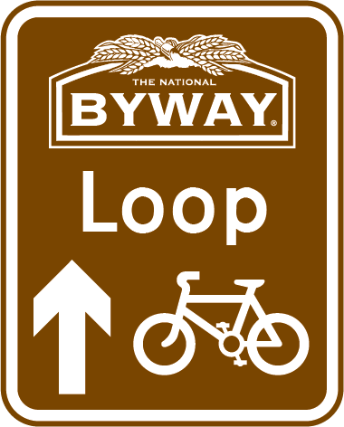The National Byway Loop directional sign