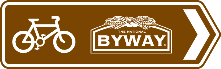 The National Byway directional sign