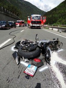 Motorcyclist ended up under tractor trailer truck's rear axle after collision with fatigued truck driver
