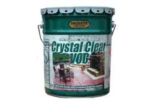Crystal Clear VOC concrete sealer