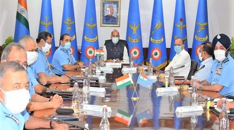 defense minister rajnath singh said air force ready to handle any situation