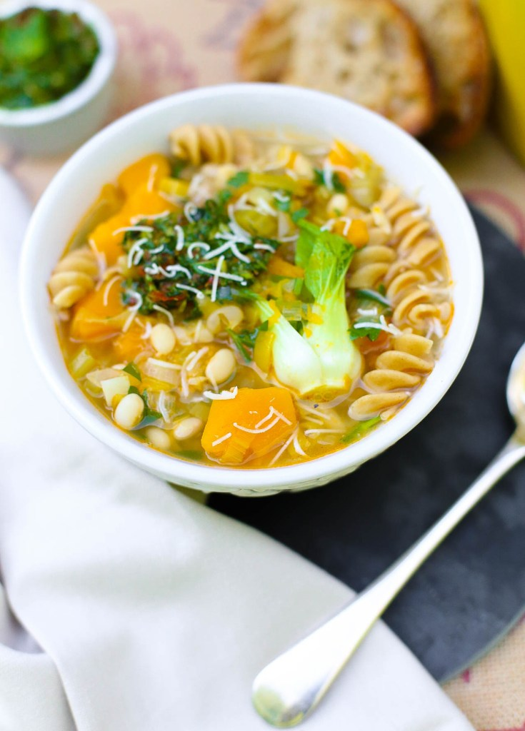 butternut squash and cannelloni bean minestrone soup