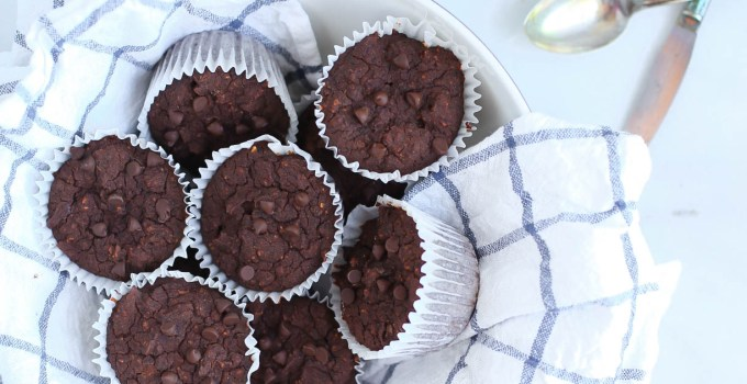 HEALTHIER CHOCOLATE BLACK BEAN MUFFINS