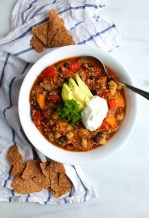 CHUNKY VEGETARIAN SLOW-COOKER CHILI