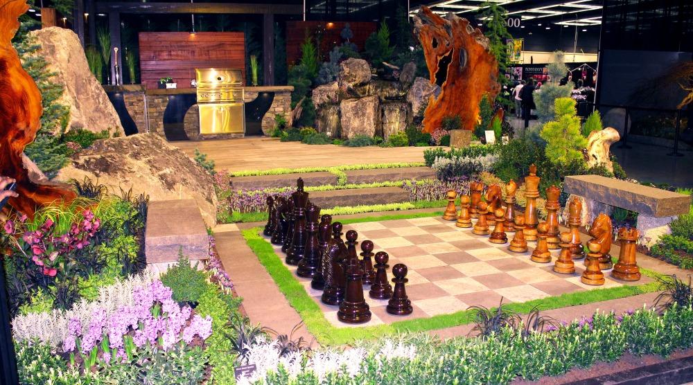 chess board garden