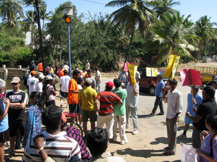 6. Community protests to save a polluted lake in Bangalore