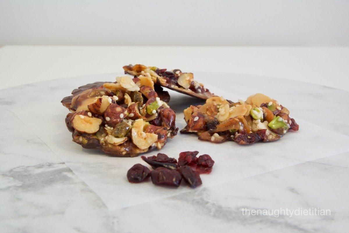Dark Chocolate Cranberry Florentines Gluten Free