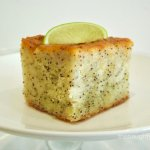 Gluten Free Lime and Poppyseed Syrup Cake