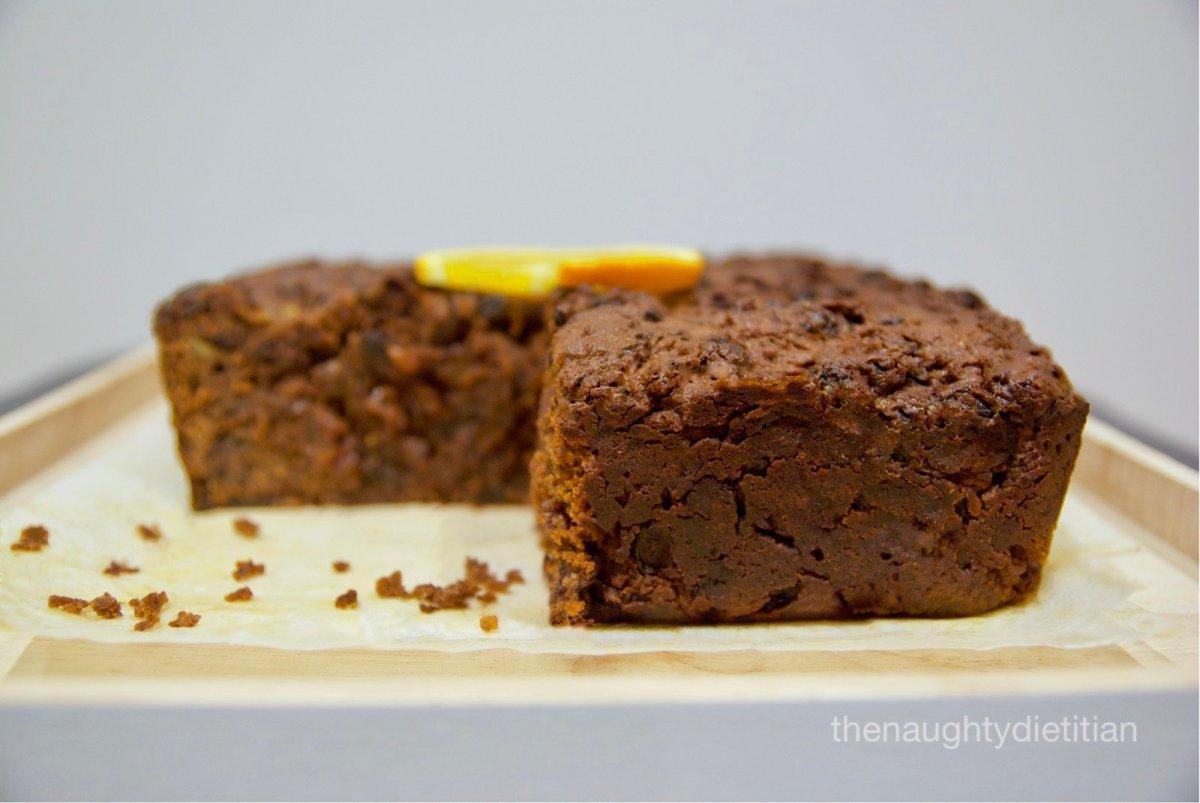 Gluten Free Spiced Chocolate Fruit Cake