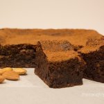 Gluten Free Chocolate Almond Fudge Cake