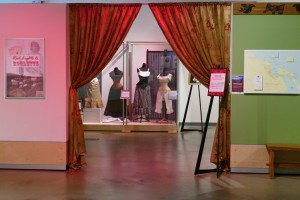 Entrance to Red Lights & Roulette exhibit.