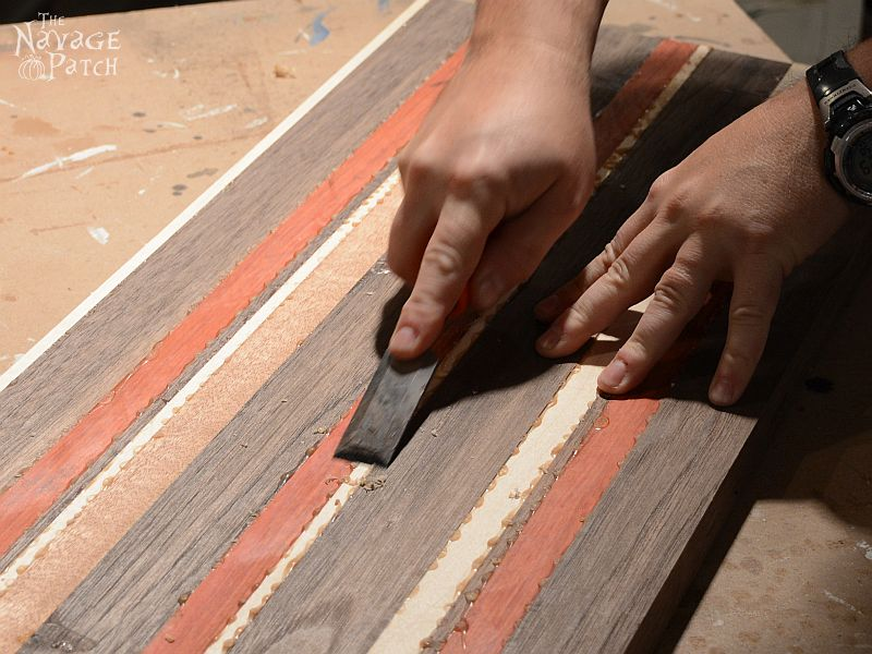 Story of A Board: End-Grain Cutting Board Tutorial and Plans   Woodworking & diy   Free plans   Handmade cutting board   Food safe varnish   How to make a cutting board   #Tutorial for #Handmade #Endgrain #Cuttingboard using #exoticwood   #Woodworking & #diy with #freeplans   TheNavagePatch.com