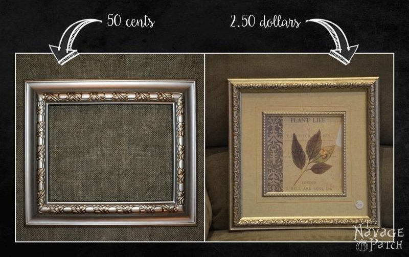 In the Frame - No.1 | DIY picture frame makeover | Painted and distressed plastic frame | Multipurpose picture frame | DIY organization board | How to make a cork board | How to paint and distress plastic frames | Before & After | DIY cork board pins | Multi-purpose picture frame | DIY home decor | TheNavagePatch.com