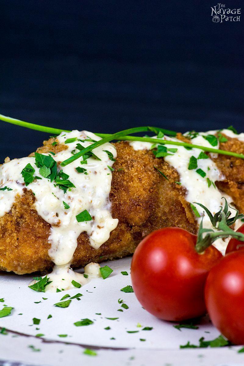 Chicken Cordon Bleu with Chanterelles & Shallots | TheNavagePatch.com